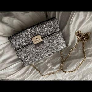 Kate Spade Silver sequin purse